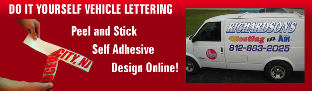 Do it yourself vehicle lettering