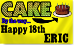 18th Birthday Cake Banners