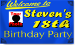 18th Birthday Party Banners w/ Photograph