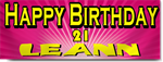 Pink 21st Birthday Banners