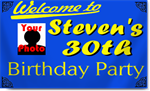 30th Birthday Banners with photo