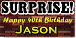 Surprise 40th Birthday Banners