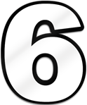 Number Six Shaped Magnet