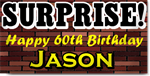 Surprise 60th Birthday Banners