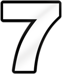 Number Seven Shaped Magnet