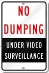 No Dumping Under Surveillance Sign