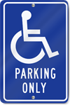 Handicapped Parking Only Metal Parking Sign