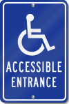 Accessible Entrance Parking Sign