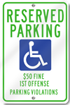 Alabama ADA Reserved Parking Signs