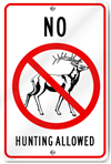 No Hunting Allowed Sign