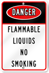 Danger Flammable Liquids No Smoking Sign