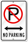 No Parking (Driveway) Sign