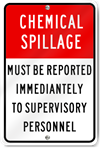 Chemical Spillage Sign