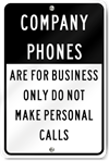 Company Phones Sign