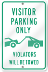 Visitor Parking Only (Graphic) Sign