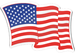 American Flag Shaped Magnet