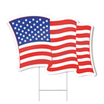 American Flag Shaped Sign