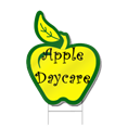 Apple Shaped Sign