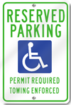 Arkansas Reserved Parking Handicap Sign