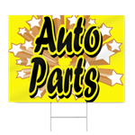 Auto Parts Sign, Yellow