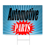 Automotive Parts Sign