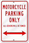 Motorcycle Parking Only (With Arrow)
