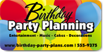 Birthday Party Planning Magnet