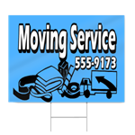 Blue Moving Service Sign