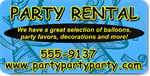 Blue Party Rental Magnet