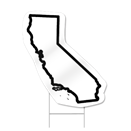 California Shaped Sign