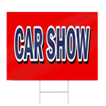 Car Show Block Lettering Sign