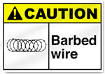 Barbed Wire2 Caution Signs