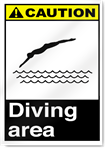 Diving Area Caution Signs