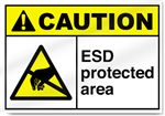 ESD Protected Area Caution Signs