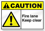 Fire Lane Keep Clear Caution Signs