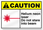 Helium Neon Laser Do Not Stare Into Beam Caution Signs