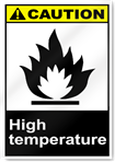 High Temperature Caution Signs