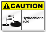 Hydrochloric Acid Caution Signs
