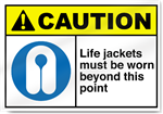 Life Jackets Must Be Worn Beyond This Point Caution Signs
