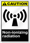 Non-Ionizing Radiation Caution Signs