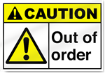 Out Of Order Caution Signs