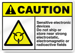 Sensitive Electronic Devices Do Not Ship Caution Signs