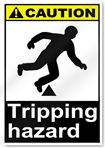 Tripping Hazard Caution Signs