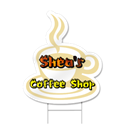 Coffee Cup Shaped Sign