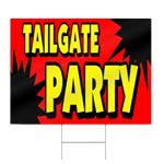 College Baseball Tailgate Party Sign