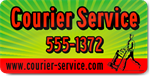 Green Courier Service Magnet