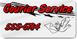 Courier Service Magnet