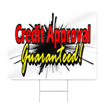 Credit Approval Sign