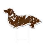Dachshund Shaped Dog Sign