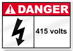 415 Volts Danger Sign